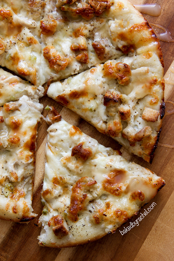 Baked by Rachel » Leftover Thanksgiving Turkey Pizza