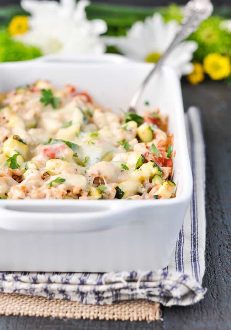 Cheesy Turkey, Tomato and Zucchini Casserole - The ...