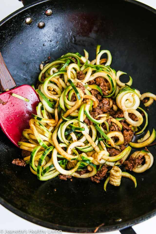 Chinese Five Spice Ground Turkey Zucchini Noodles Recipe ...