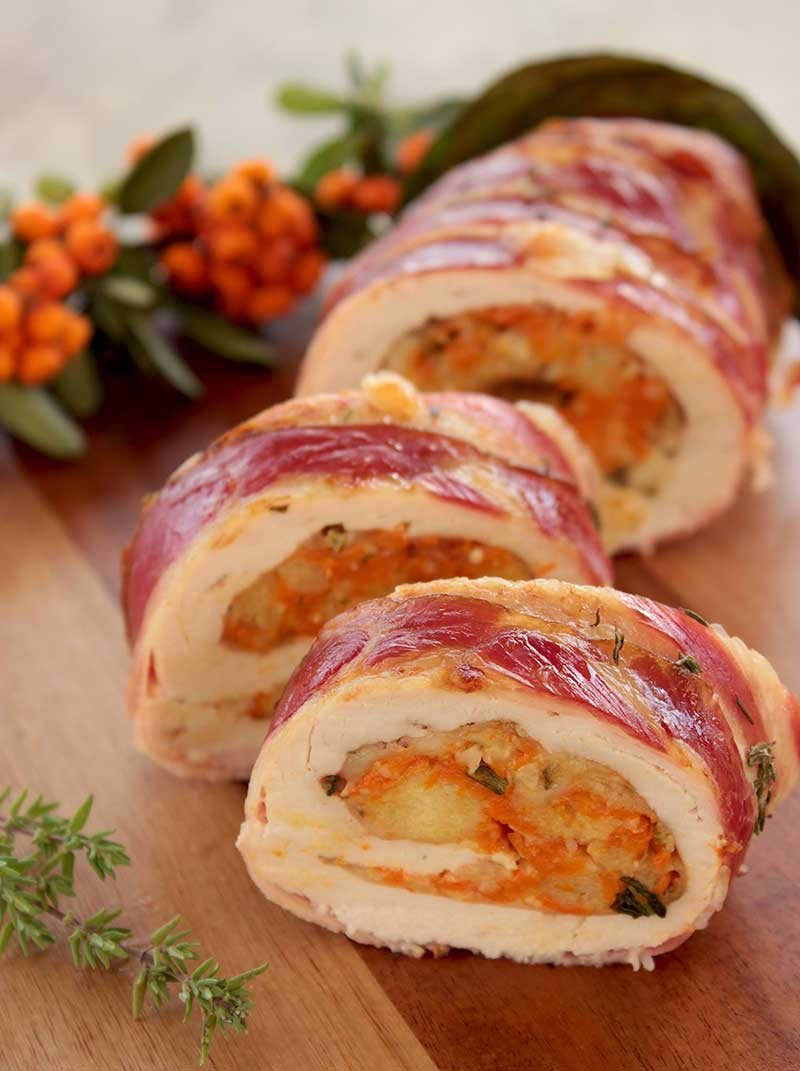 Christmas Turkey Roulade with Pumpkin & Cranberry Stuffing ...