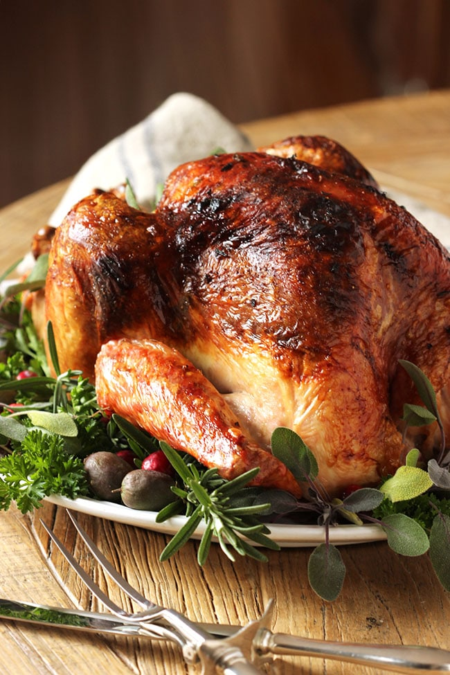 Citrus and Herb Butter Roast Turkey Recipe - The Suburban ...