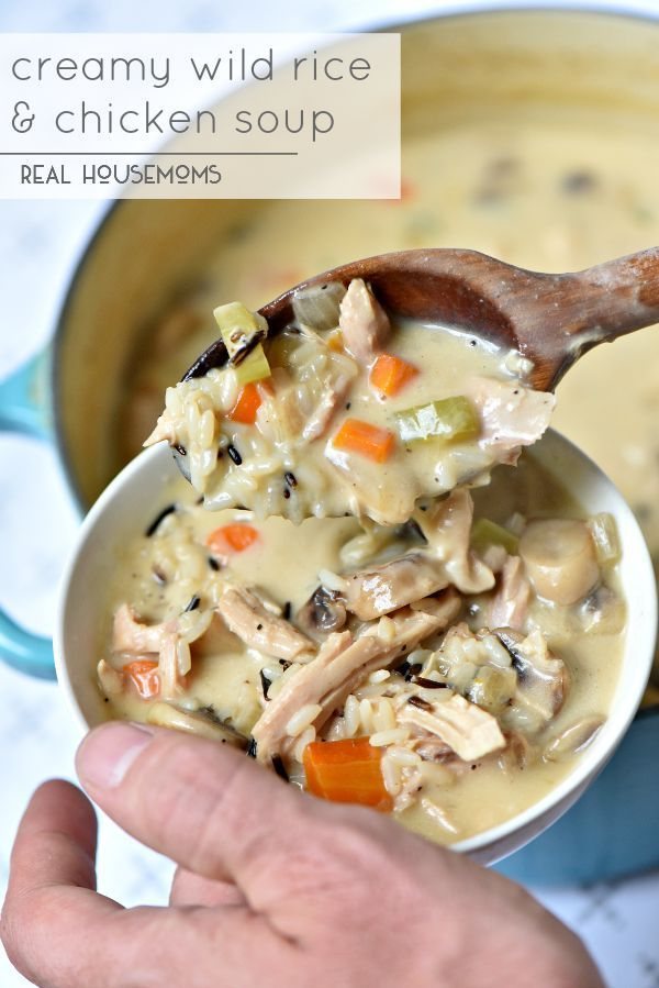 Creamy Wild Rice and Chicken Soup is the best fall comfort ...