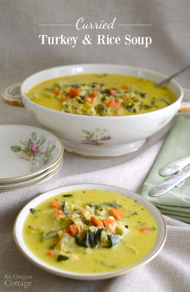 Curried Turkey and Rice Soup {or Chicken and Rice Soup ...