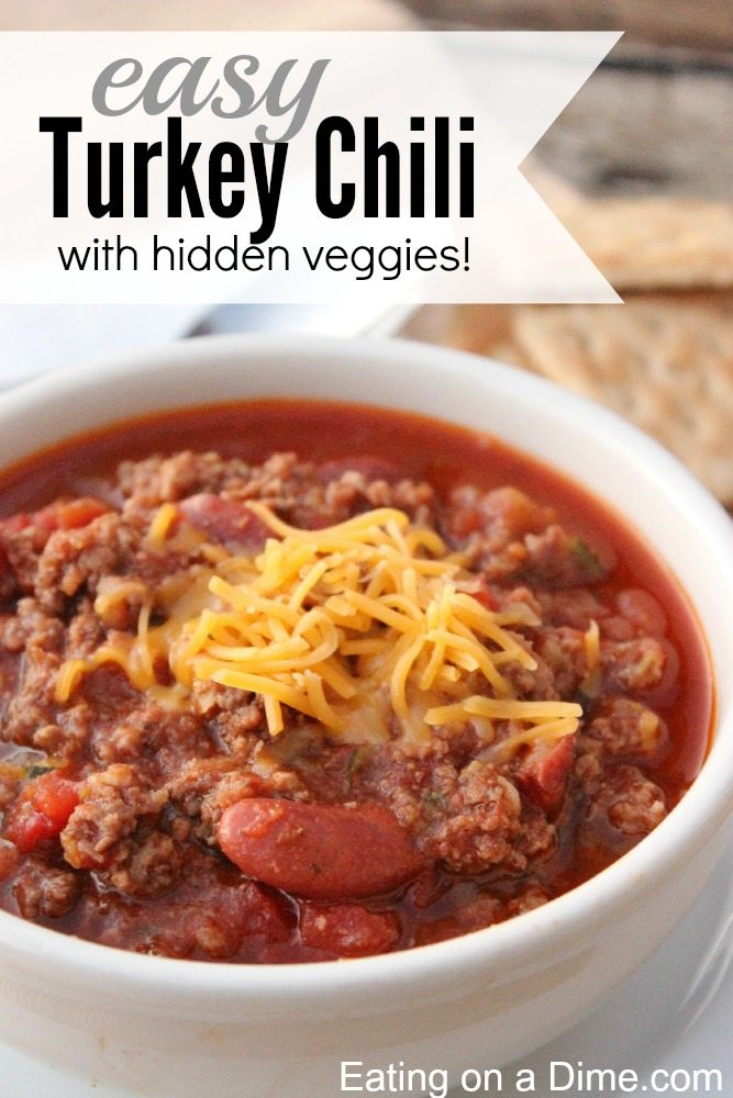 Delicious ground Turkey Chili recipe - Eating on a Dime