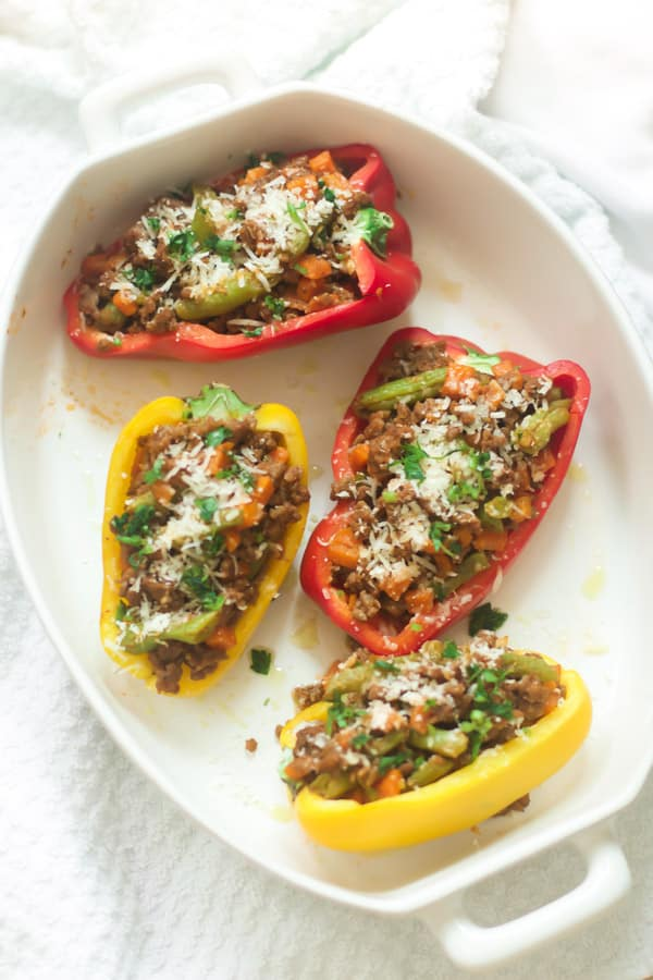 Easy Ground Turkey Stuffed Peppers - Primavera Kitchen