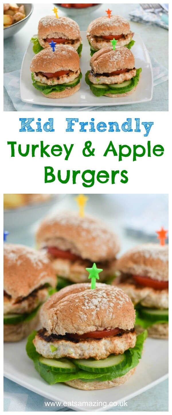 Easy Homemade Turkey & Apple Burgers Recipe