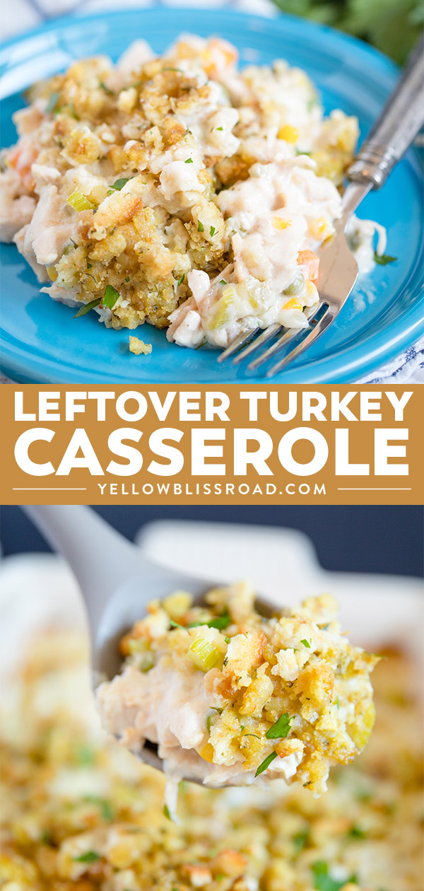 Easy Leftover Turkey Casserole with Stuffing Recipe