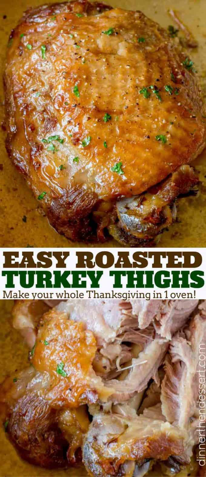 Easy Roasted Turkey Thighs - Dinner, then Dessert