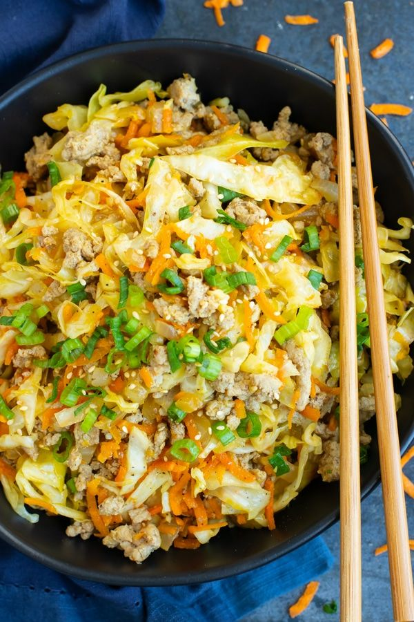 Egg Roll in a Bowl | Keto + Paleo | Recipe | Asian Food ...