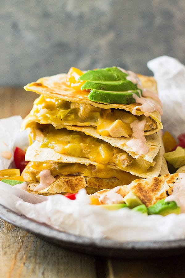 Green Chile Turkey Quesadillas | Countryside Cravings