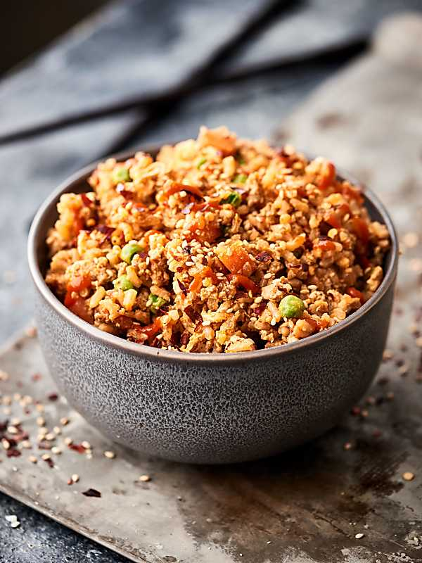 Ground Turkey Fried Rice Recipe - w/ Brown Rice, 15 Min ...