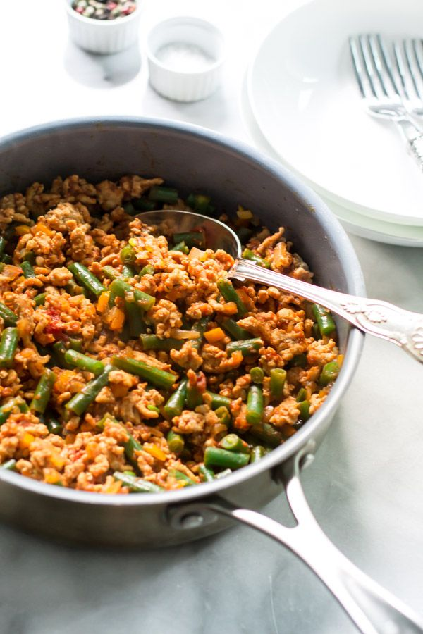 Ground Turkey Skillet with Green Beans   Recipe   Skillets ...