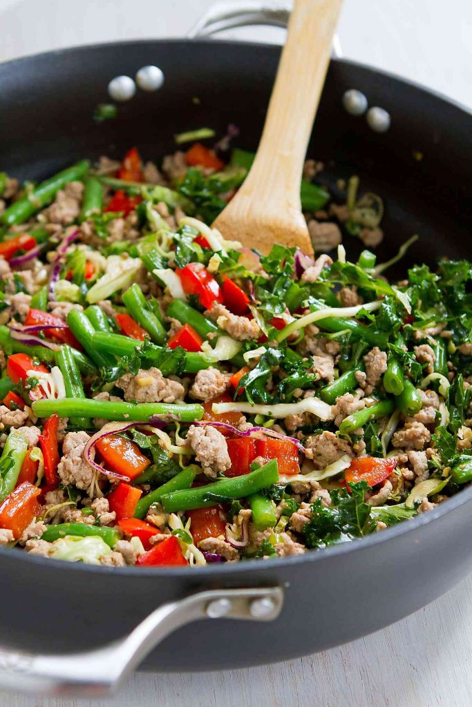Ground Turkey Stir-Fry with Greens Beans & Kale - 20 ...