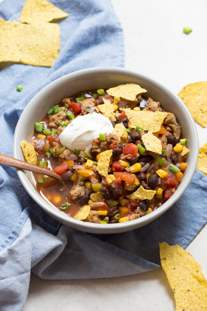 Healthy Ground Turkey Recipes: Turkey Taco Soup | Quick ...