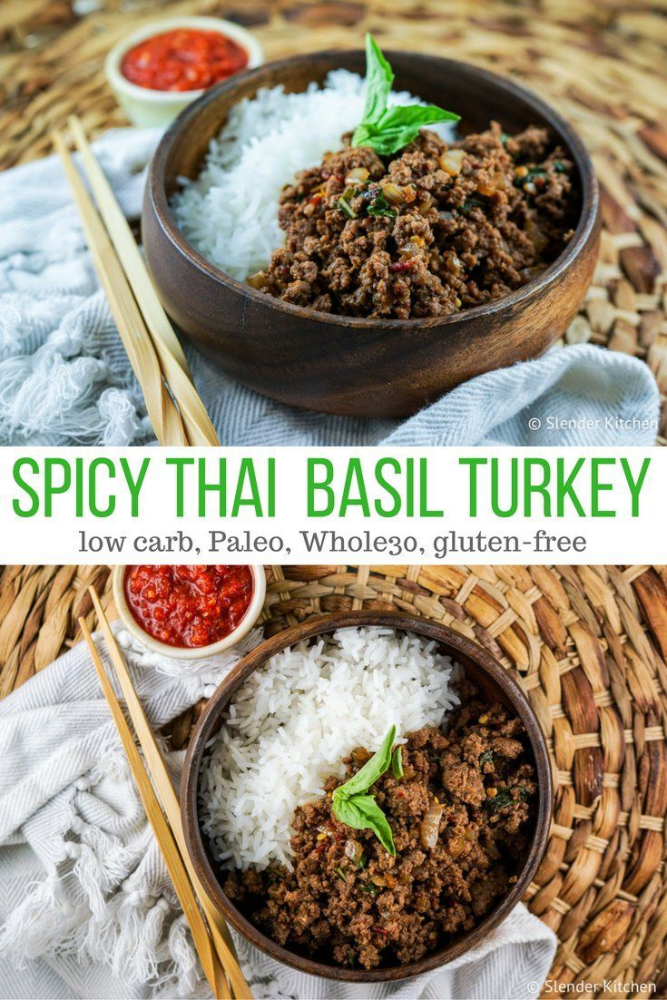 Healthy Recipes : Spicy Thai Basil Ground Turkey - Slender ...