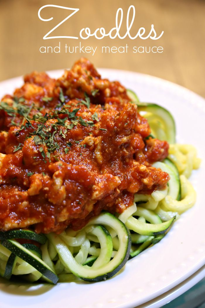 Healthy Recipes: Zoodles with a Healthy Turkey Meat Sauce