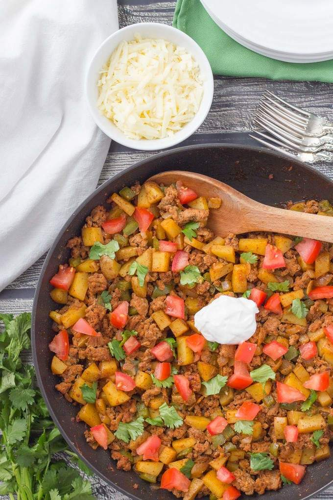 Healthy taco turkey and potato skillet {and a giveaway ...