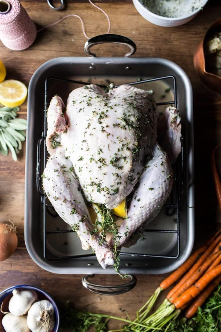 Herb and Butter Roasted Turkey with White Wine Pan Gravy ...