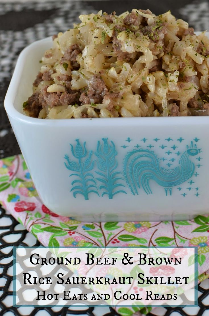 Hot Eats and Cool Reads: Ground Beef and Brown Rice ...