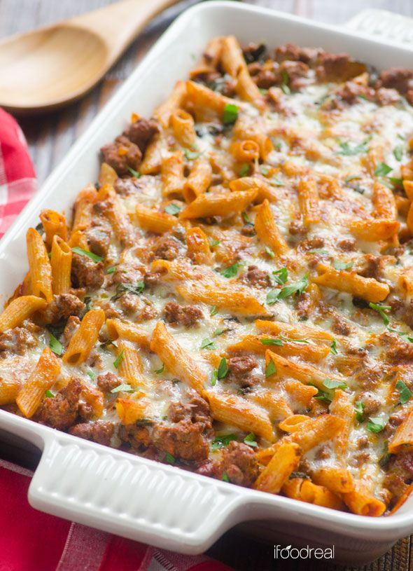 Kale Turkey Pasta Bake   Recipe   Casseroles, Spinach and Home