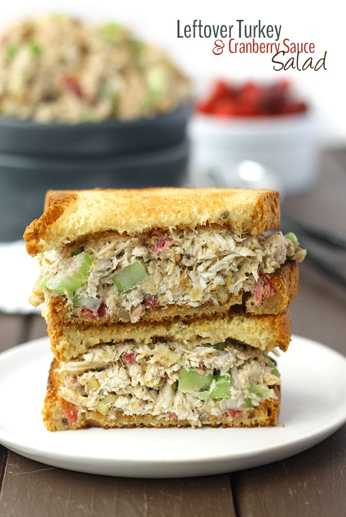 Leftover Turkey and Cranberry Sauce Salad