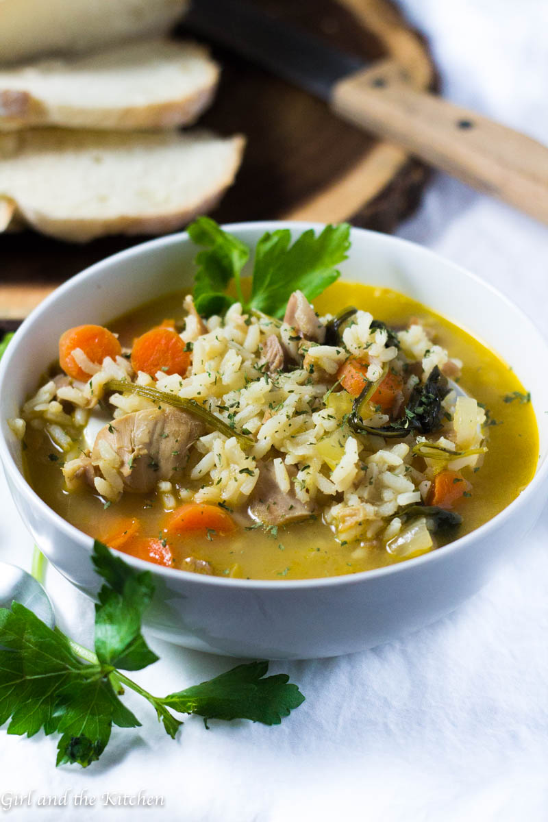 Leftover Turkey and Rice Soup (30 Minute Meal) - Girl and ...