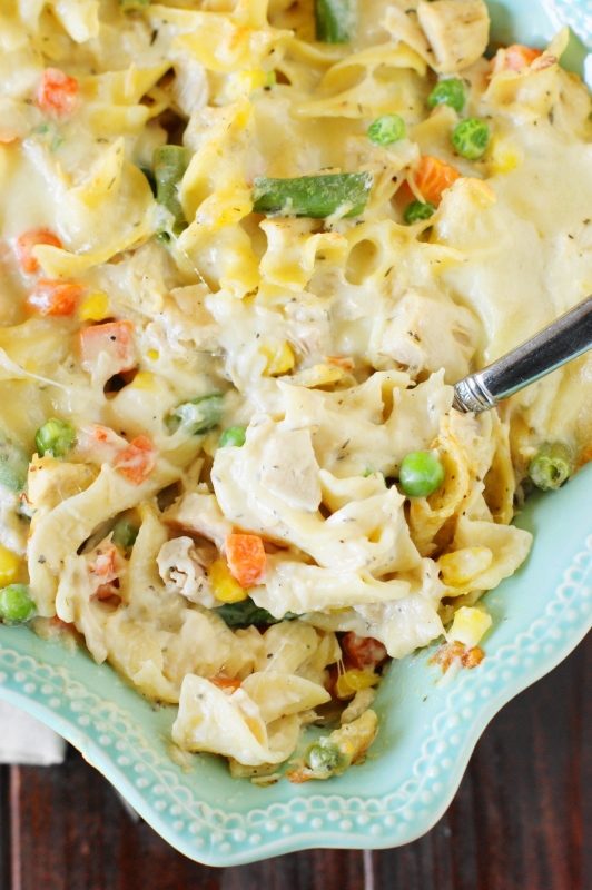 Leftover Turkey Noodle Casserole | The Kitchen is My ...