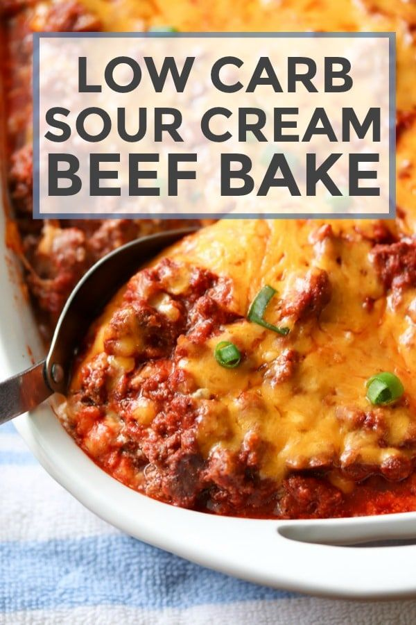 Low Carb Sour Cream Beef Bake #lowcarb #glutenfree #beef # ...