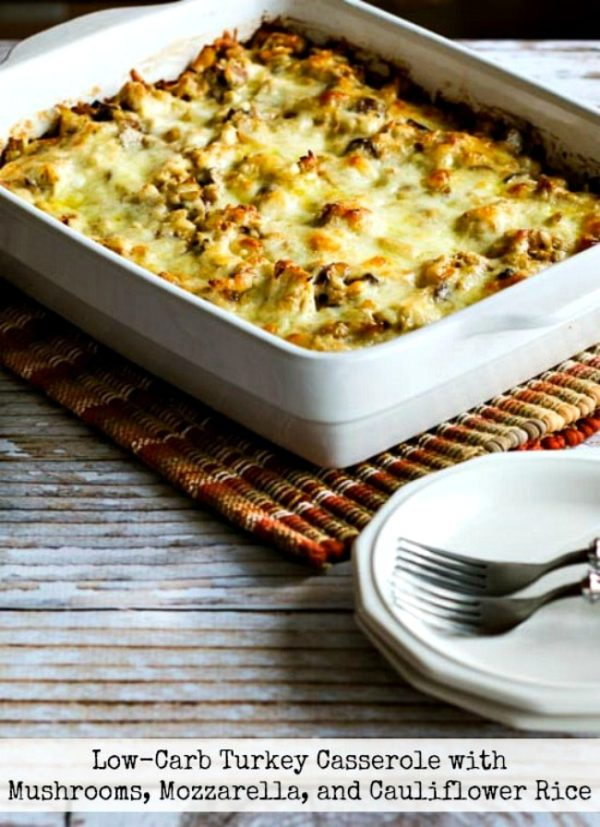 Low-Carb Turkey Casserole with Mushrooms, Mozzarella, and ...