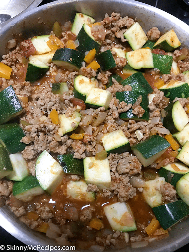Mexican Zucchini and Ground Turkey ⋆ Skinny Me Recipes
