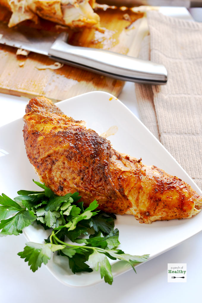 Oven Roasted Turkey Breast (Bone In) - A Pinch of Healthy