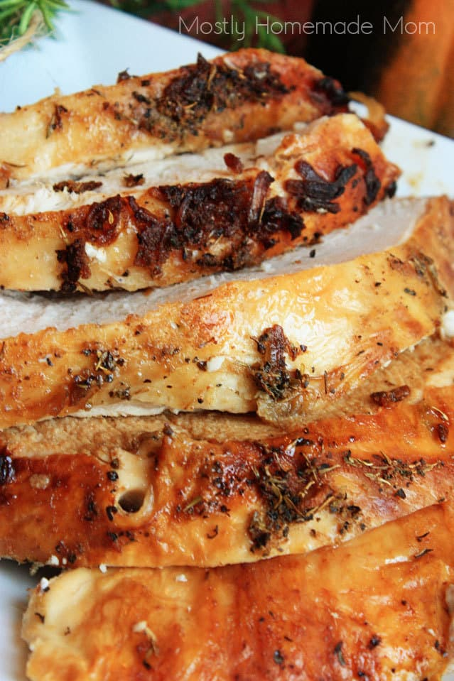 Oven Roasted Turkey Breast - Mostly Homemade Mom