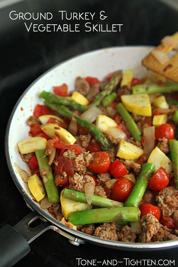 Protein-Packed Turkey and Vegetable Skillet   Healthy Main ...