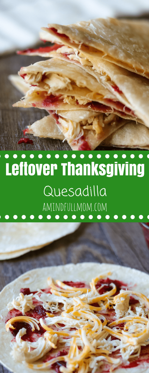 Quick and Easy Leftover Thanksgiving Turkey Quesadilla