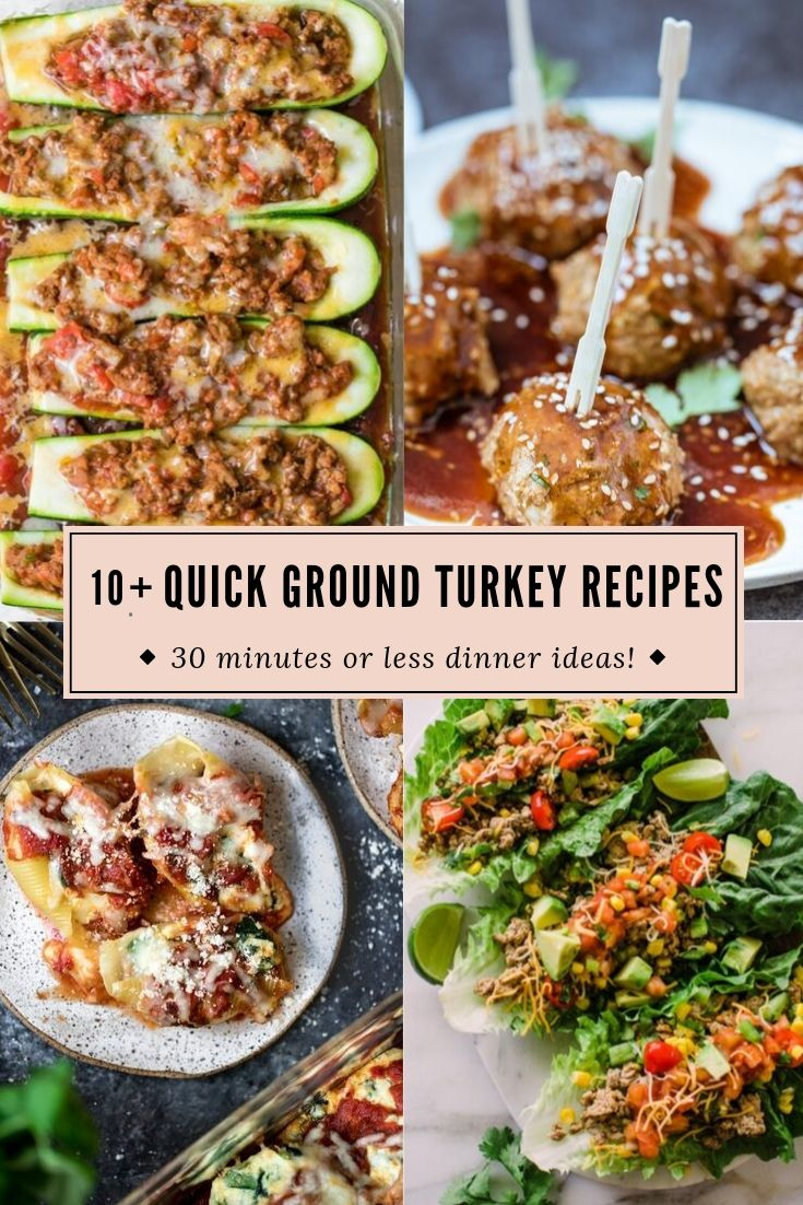 Quick Ground Turkey Recipes - What To Make With 1lb ...