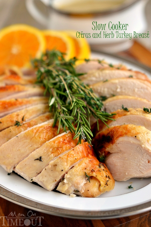 Slow Cooker Citrus and Herb Turkey Breast - Mom On Timeout