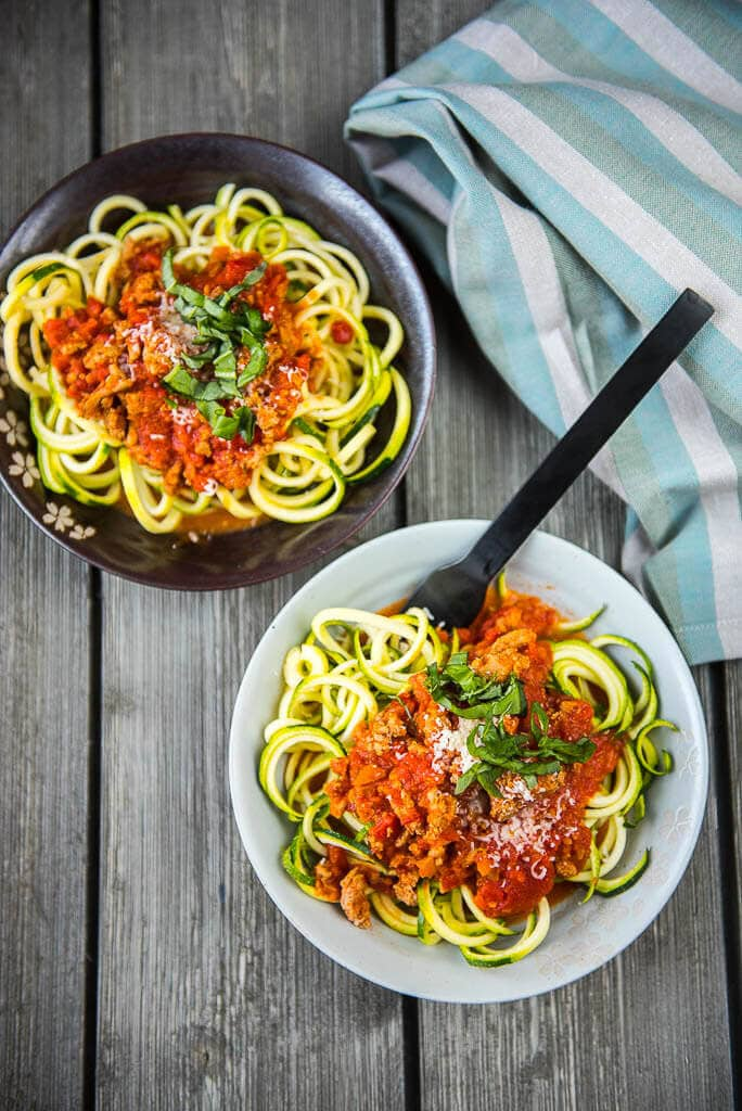 Slow Cooker Turkey Bolognese with Zoodles - Slow Cooker ...
