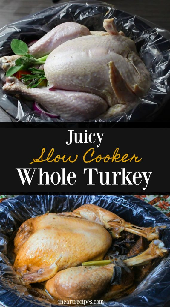 Slow Cooker Whole Turkey | I Heart Recipes