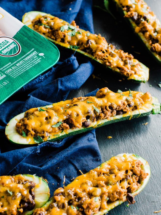 Stuffed Zucchini Boats with Ground Turkey - Dad With A Pan