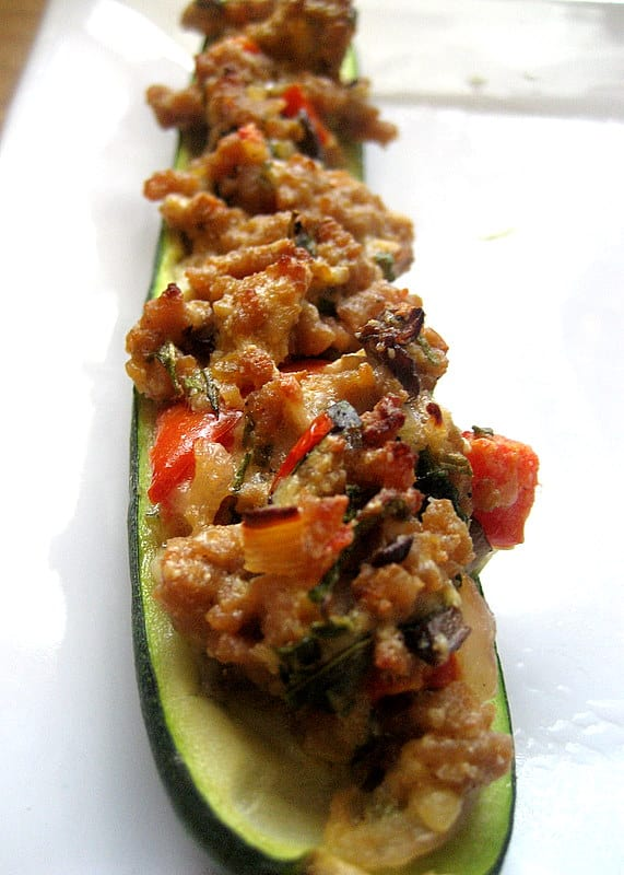 Stuffed Zucchini with Ground Turkey - Perry's Plate