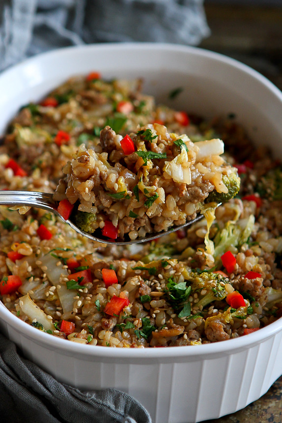 Teriyaki Turkey, Rice and Vegetable Casserole Recipe ...
