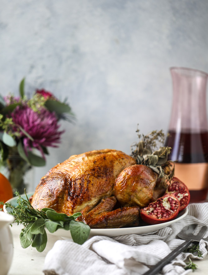 Thanksgiving Turkey Recipe - Butter and Wine Roasted Turkey