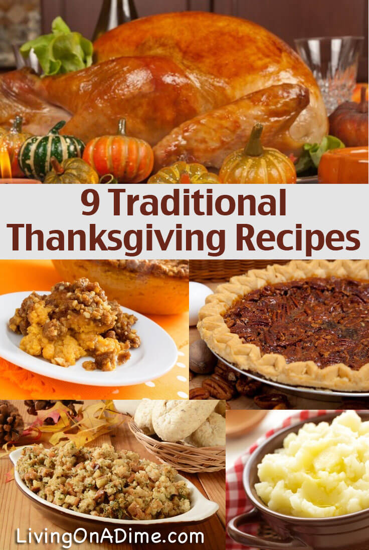 Traditional Thanksgiving Recipes - Dinner For 10 For Less ...