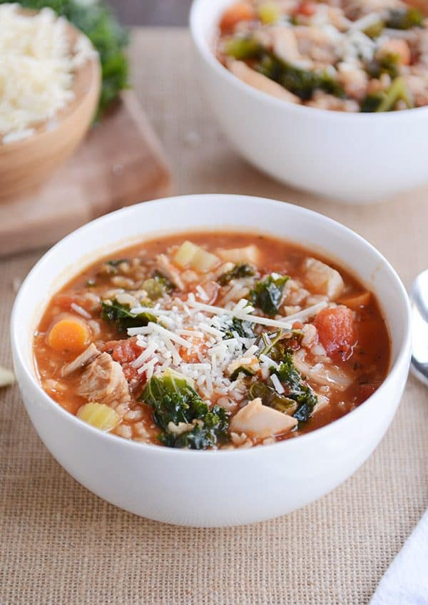 Turkey and Brown Rice Soup Recipe   Mel's Kitchen Cafe