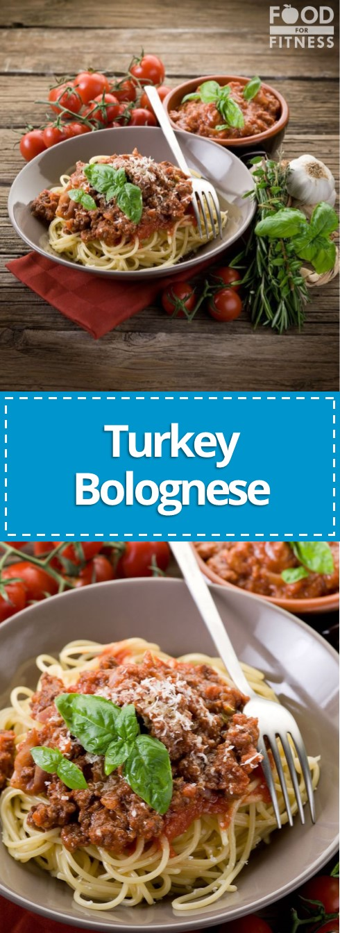 Turkey Bolognese Recipe with Turkey Mince | Food For Fitness