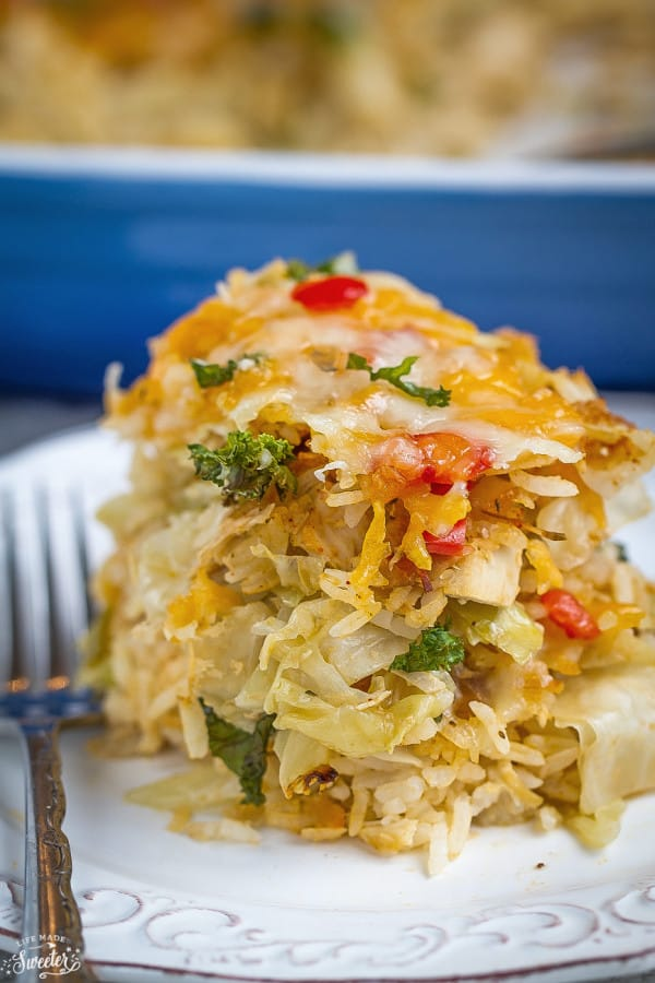 Unstuffed Turkey and Cabbage Casserole