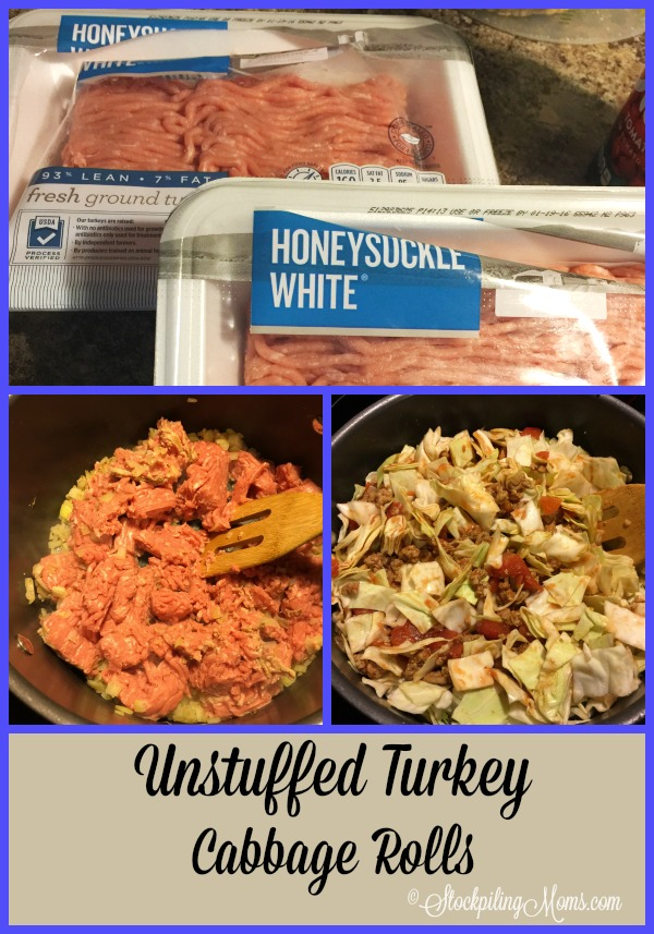 Unstuffed Turkey Cabbage Rolls