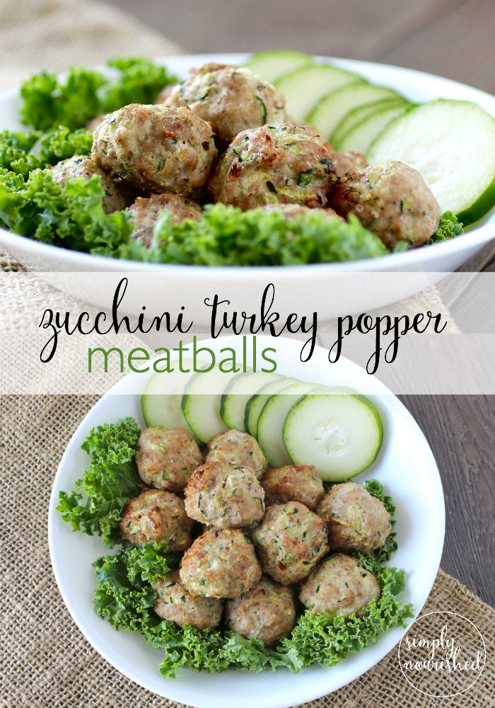 Zucchini Turkey Popper Meatballs | Recipe | Or, Turkey ...