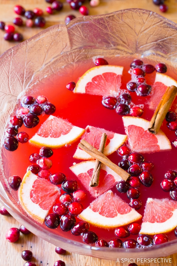 Champagne Holiday Punch Recipe - A Spicy Perspective