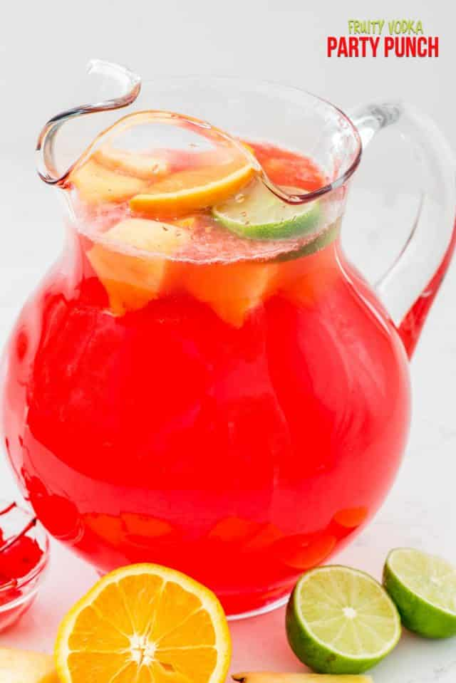 Fruity Vodka Party Punch - Crazy for Crust